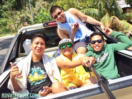 Road trippin' with my travel buddies for this trip.