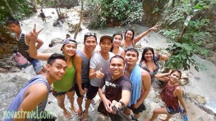 Group picture with my friends, clearly we had a good time here. Taken at Aguinid falls.