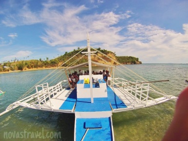 Taken before we travel to Kalanggaman Island,  I believe it was safe enough to travel by boat, the sky is clear and the sea so calm