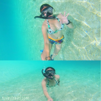 Underwater shots, more selfie photos, the water is just so clear and the sand - so  white.