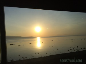 """A good way to start our adventure - Mr. Sun greeting us with """"Good Morning"""""""