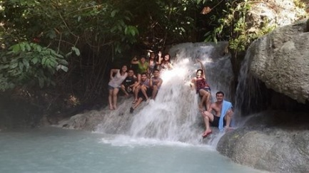Taken in Aguinid Falls- Level 4. Only those who dare to climb level 3 can  witness the beautiful level 4 & 5.