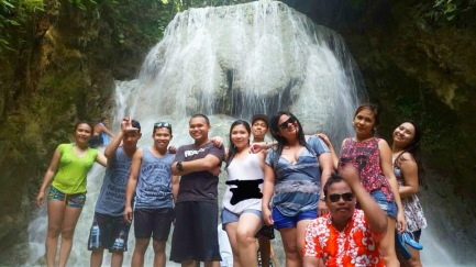 Another group picture with the my friends. Taken at Aguinid falls - Level 5.
